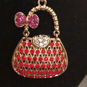 Jewelry - Necklace red and gold body purse pendant